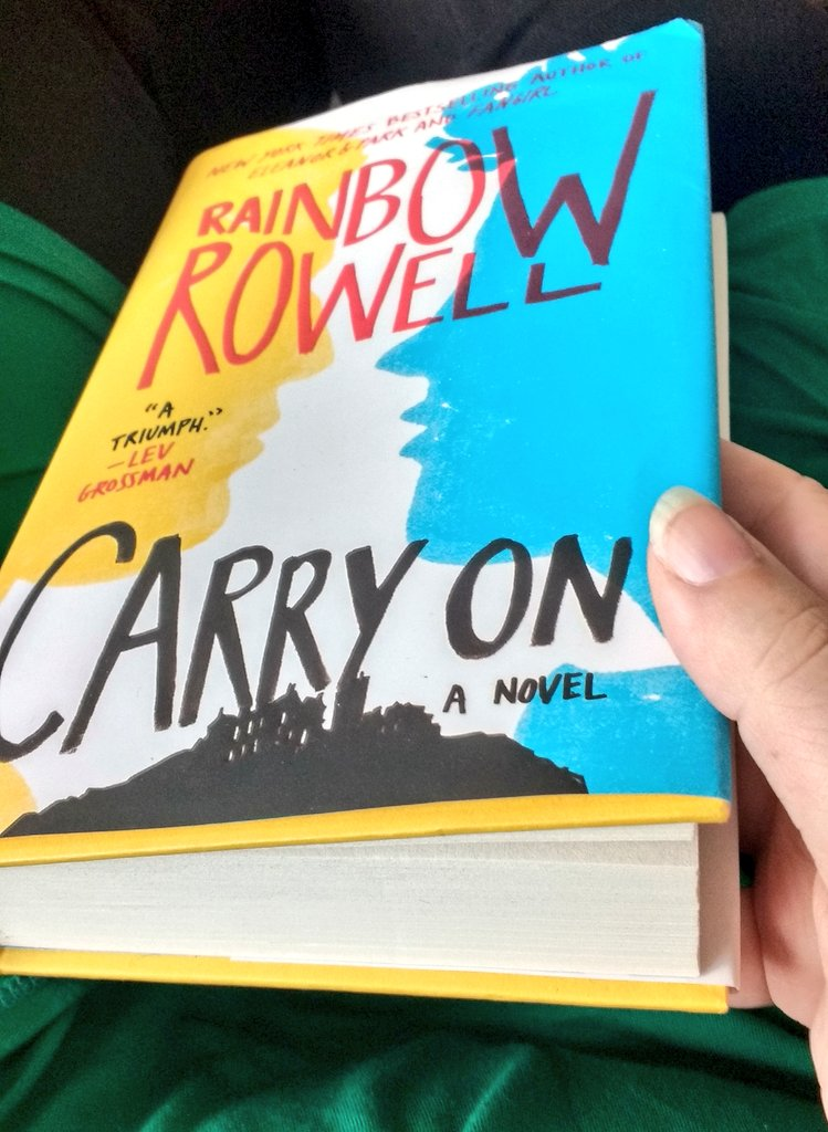 I'm reading @rainbowrowell's Carry On and it's linguistically FASCINATING https://t.co/jZvxWUUsbF