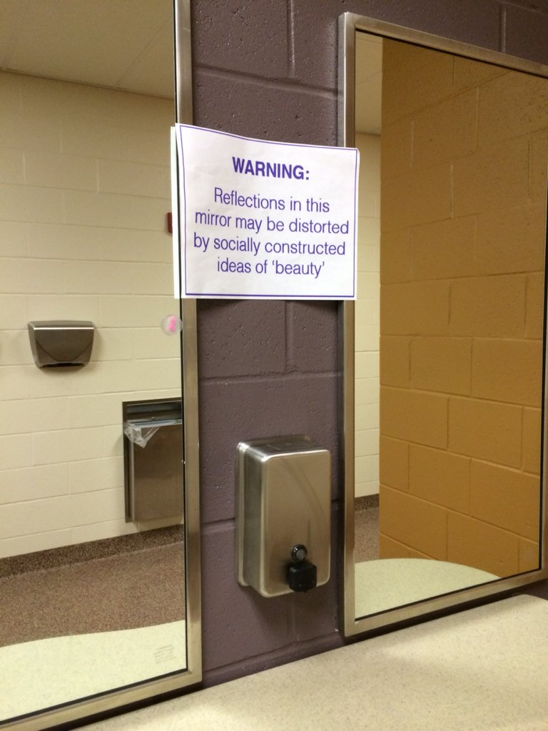 I saw this in a high school bathroom the other day. I think every bathroom should have this sign--esp schools! https://t.co/d9zjNtgxYy