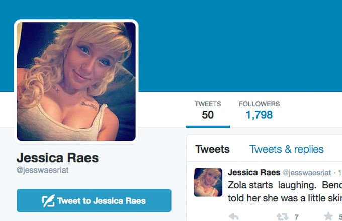 Complex On Twitter Someone Pretended To Be Jess From The Zola Story To Troll Twitter Https T Co Mw1chhkc5e Https T Co Qda9tt6he5