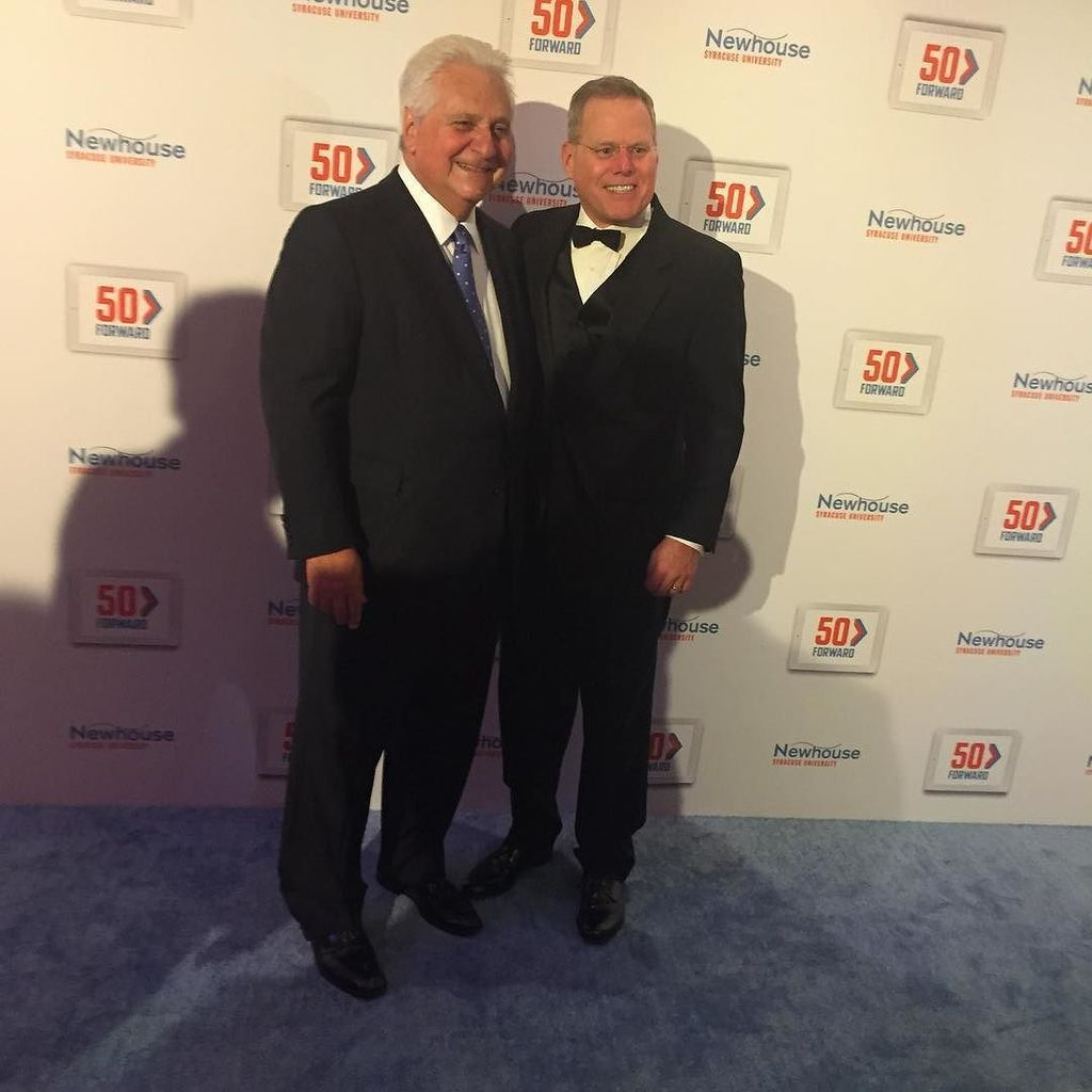 Marty Bandier and David Zaslav have arrived! #50Forward #newhousesu https://t.co/QbZxYFVgf2 https://t.co/eEtfxic7t4