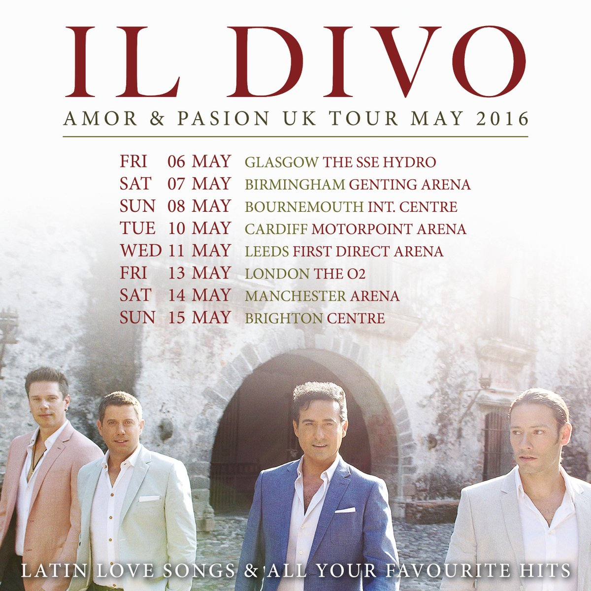 Il divo on twitter uk il divo are taking the amor - Il divo tour dates ...