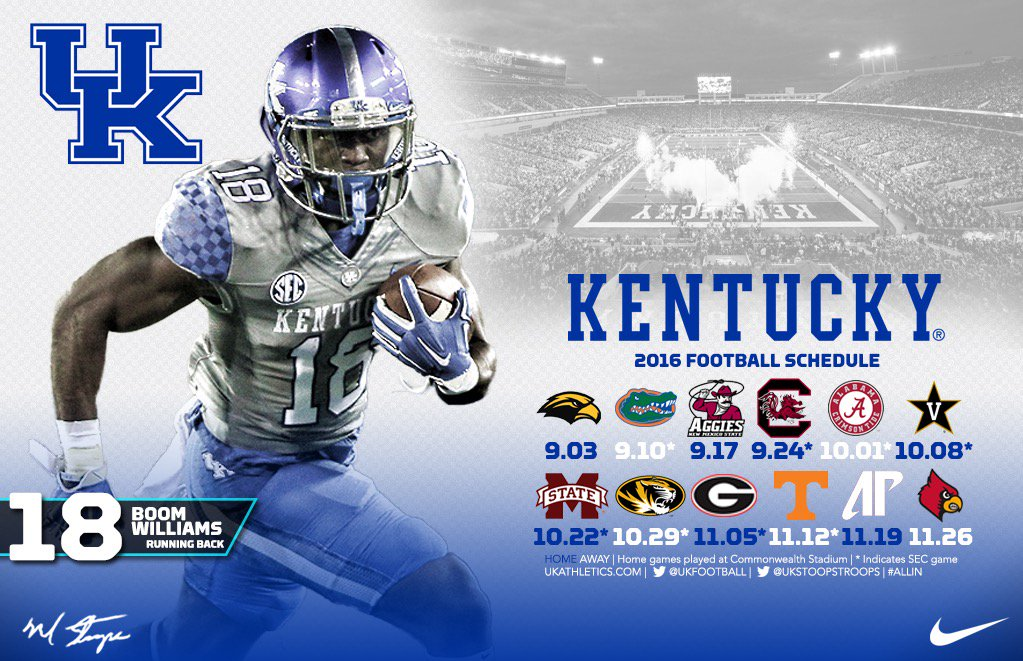 Uk Basketball Schedule: UK Football's Schedule Ranked 28th Hardest In The Country