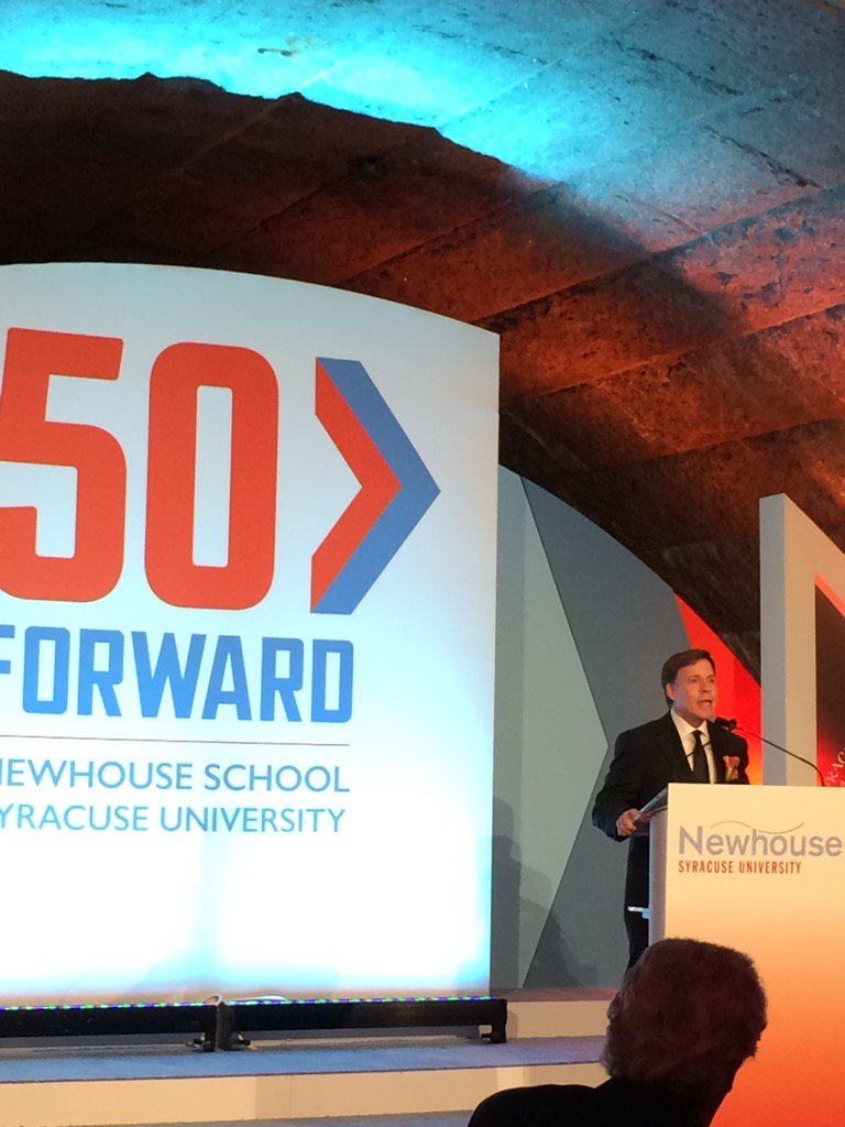 NBC Sports' Bob Costas honored by Syracuse University's Newhouse School and it's #50Forward gala https://t.co/3lArUxfXnG