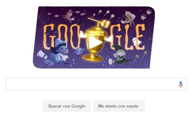 Doodle giocabile con Google Messico per Halloween.