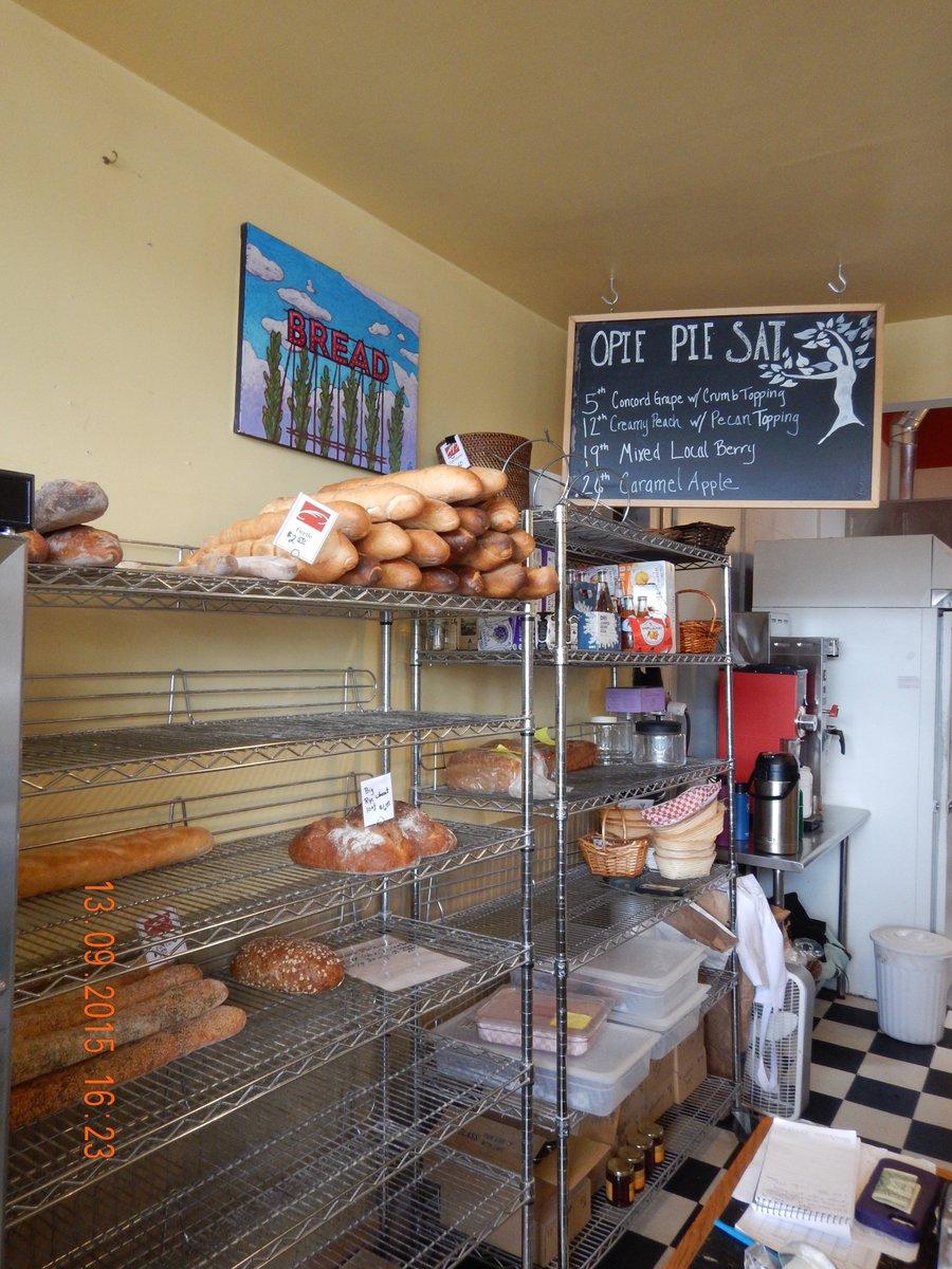 Big rye wheat loaf at Pane d'Amore