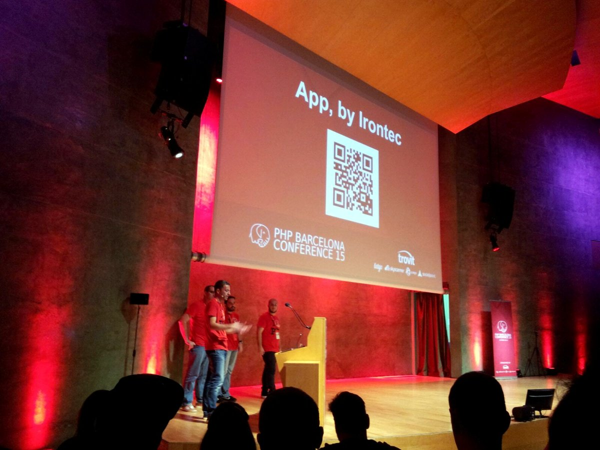 Imagen App Irontec PHP Barcelona Conference 15
