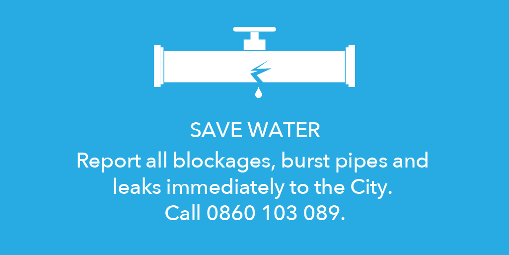 With low dam levels, saving water is high priority this summer. Report all burst pipes and leaks to 0860 103 089. https://t.co/lved2AGpFE