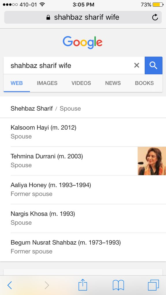 "Searched for ""Shahbaz Sharif's wife"" on Google out of curiosity and I got a scroll bar. https://t.co/kdl2eJEfFZ"
