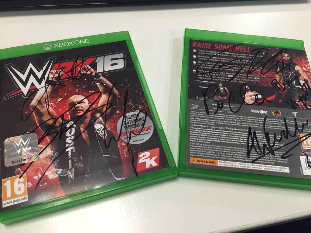 #WWE2K16 - Simply RT this tweet for a chance to win a signed @xboxuk copy of the game! T&C: https://t.co/uy9iH0r0z7 https://t.co/EjS9bogmUX