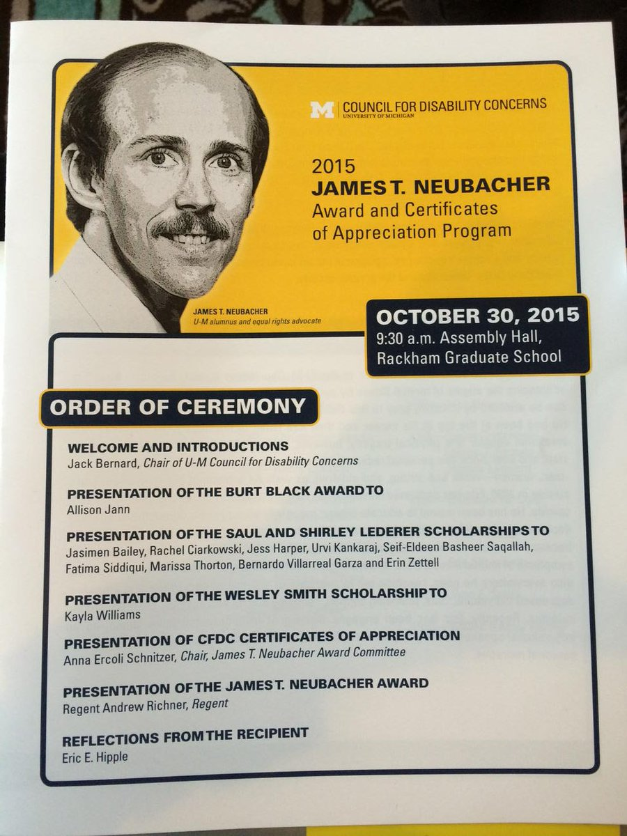 Always a pleasure to livetweet the Neubacher Award ceremony, capstone of #iaw2015 https://t.co/gsmRdFE5C8