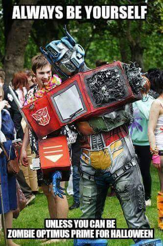 We're loving this Zombie Optimus Prime Halloween costume! Visit https://t.co/q04U7OCwhB for all things transformers! https://t.co/Ajl5gsBhjZ