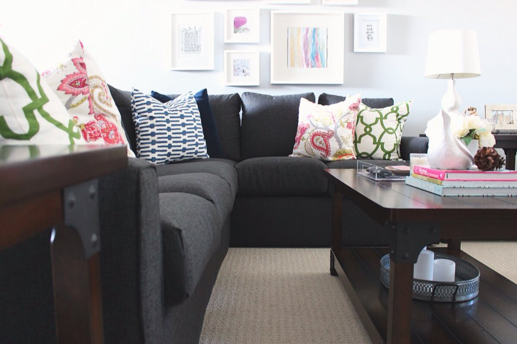 It's time!  Our basement makeover reveal is up on @leonsfurniture's, Hello Yellow blog! https://t.co/Wnph6HkFco https://t.co/IlbiTL38ka