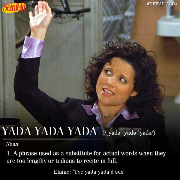"Seinfeld on Twitter: """"I've yada yada'd sex"" #Seinfeld ..."