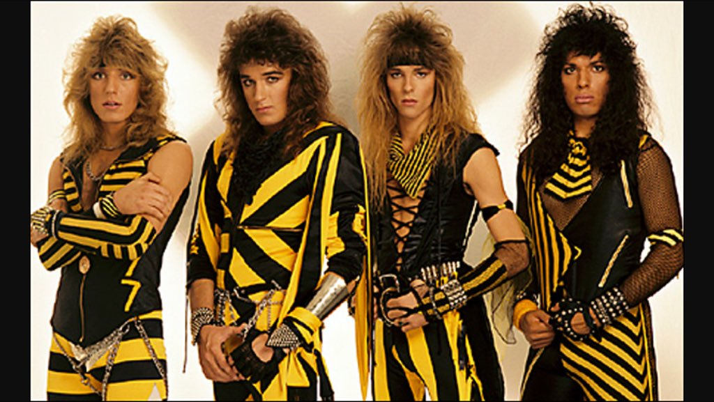 """the reason im alive is bc my dad asked """"who likes Stryper?"""" (Christian glam metal) on a bus and my mom said, """"i do!"""" https://t.co/bE5erjonSY"""