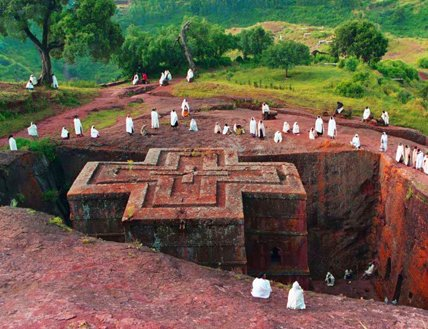 Emperor Lalibela of Ethiopia built the monolithic churches of Lalibela in 12th century to represent a new Jerusalem https://t.co/frh5vAWYNR