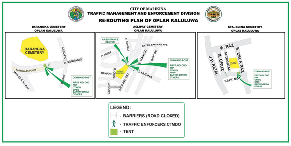 Advisory: marikina traffic management plan for undas 2015