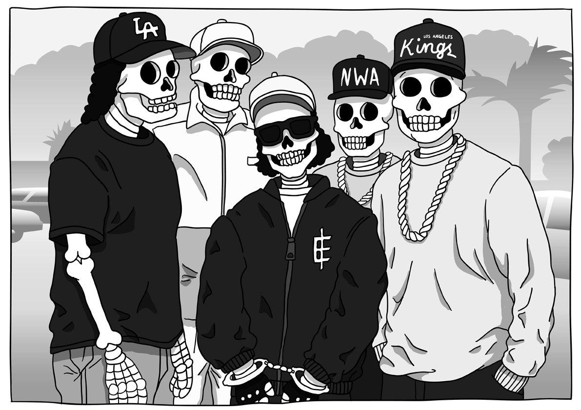 "Eazy E Cartoon: Ice Cube On Twitter: ""Halloween In Compton. Artwork Via"