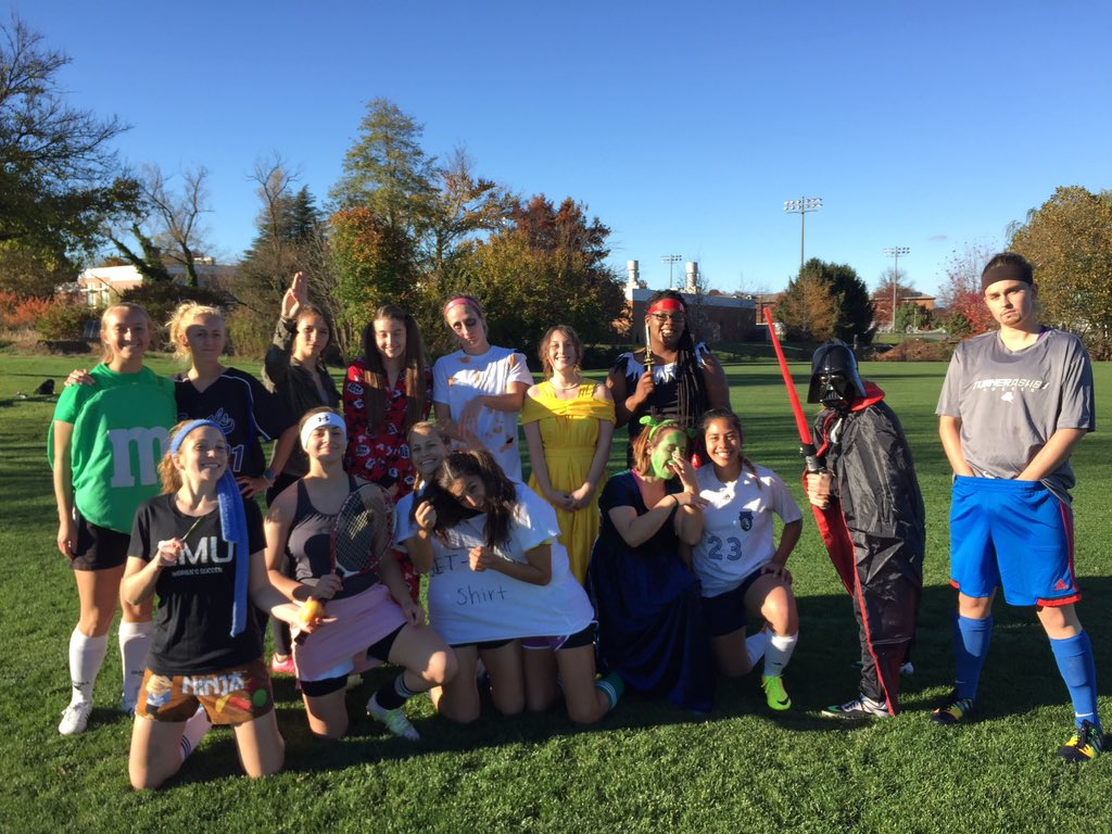 emu womens soccer on twitter halloween costume practice today and the winner of the 1st annual halloween queen trophy