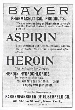 Heroin, like cocaine, was legal in 1901. Bayer, who made aspirin, held the US trademark for heroin. #TheKnick https://t.co/EtjIfrMfQe