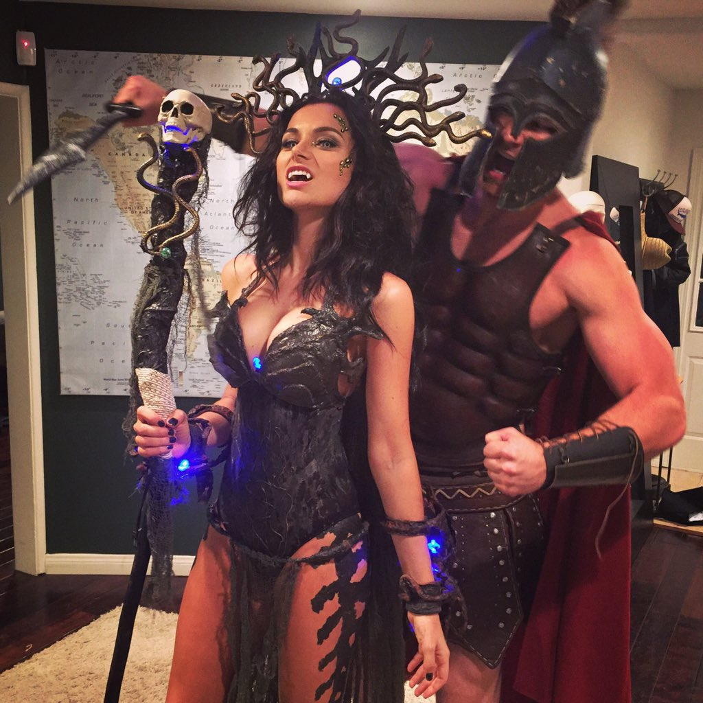 Derek Theler on Twitter  Perseus and Medusa ready for action! #birthday # Halloween @christina_ochoa //t.co/6lTC2N2nBt   sc 1 st  Twitter : perseus halloween costume  - Germanpascual.Com