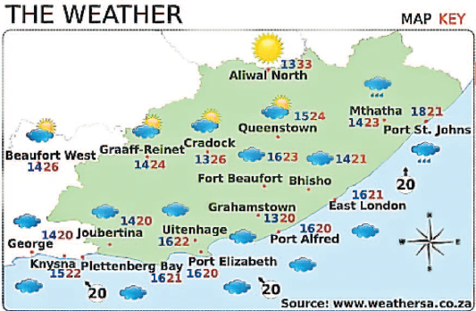 Heraldlive on twitter the eastern cape weather forecast - What is the weather in port elizabeth ...