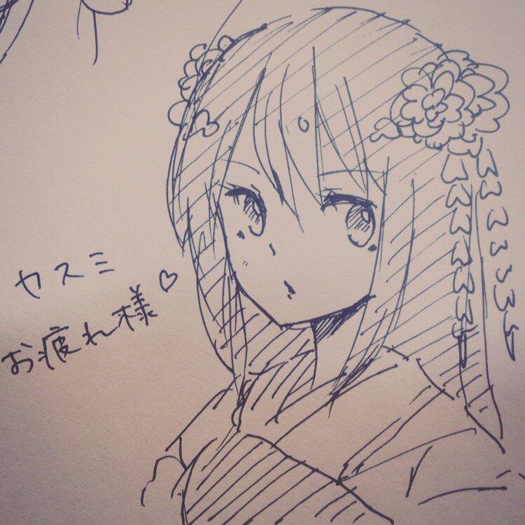 【白猫】フローリア声優、東城日沙子さんが描いたカスミのイラストが可愛い!カスミお疲れ様!【プロジェクト】