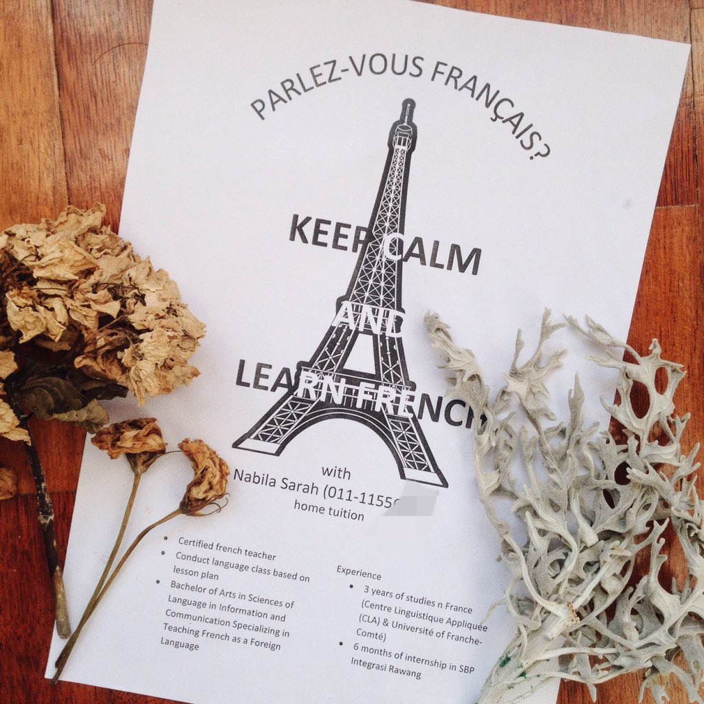 French class in Bkt Jelutong neighbourhood. 1st group is full, only 4 spots left fr the 2nd group! Pls rt @BJelutong https://t.co/7vVaBH5lRx