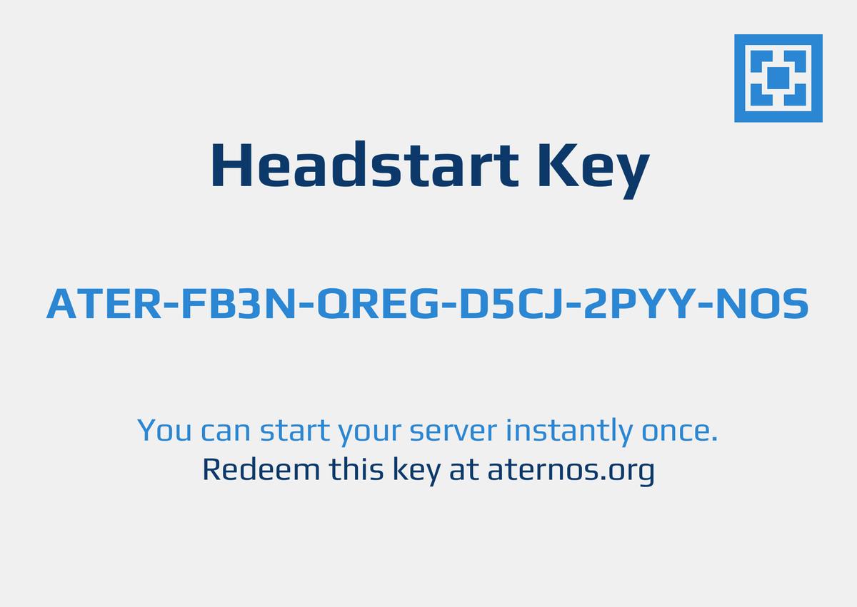 how to get aternos keys