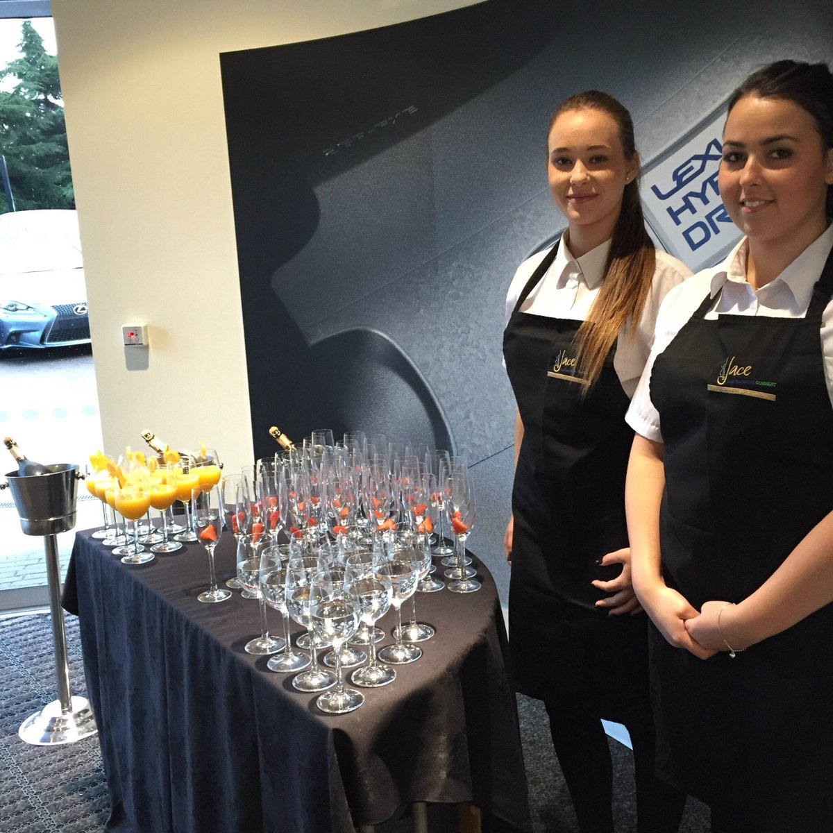 new car launches eventsJACECatering on Twitter Our lovely catering staff serving drinks