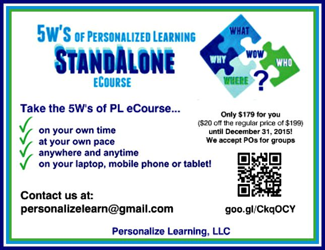 Learn about the 5Ws of Personalized Learning at your own pace! https://t.co/XVZgR0ERhD #Nt2t #catholicedchat https://t.co/g9ovMWGKSp