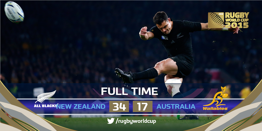 Ladies and gentlemen, your #RWC2015 Champions #NZL https://t.co/3YLZUH6FN2