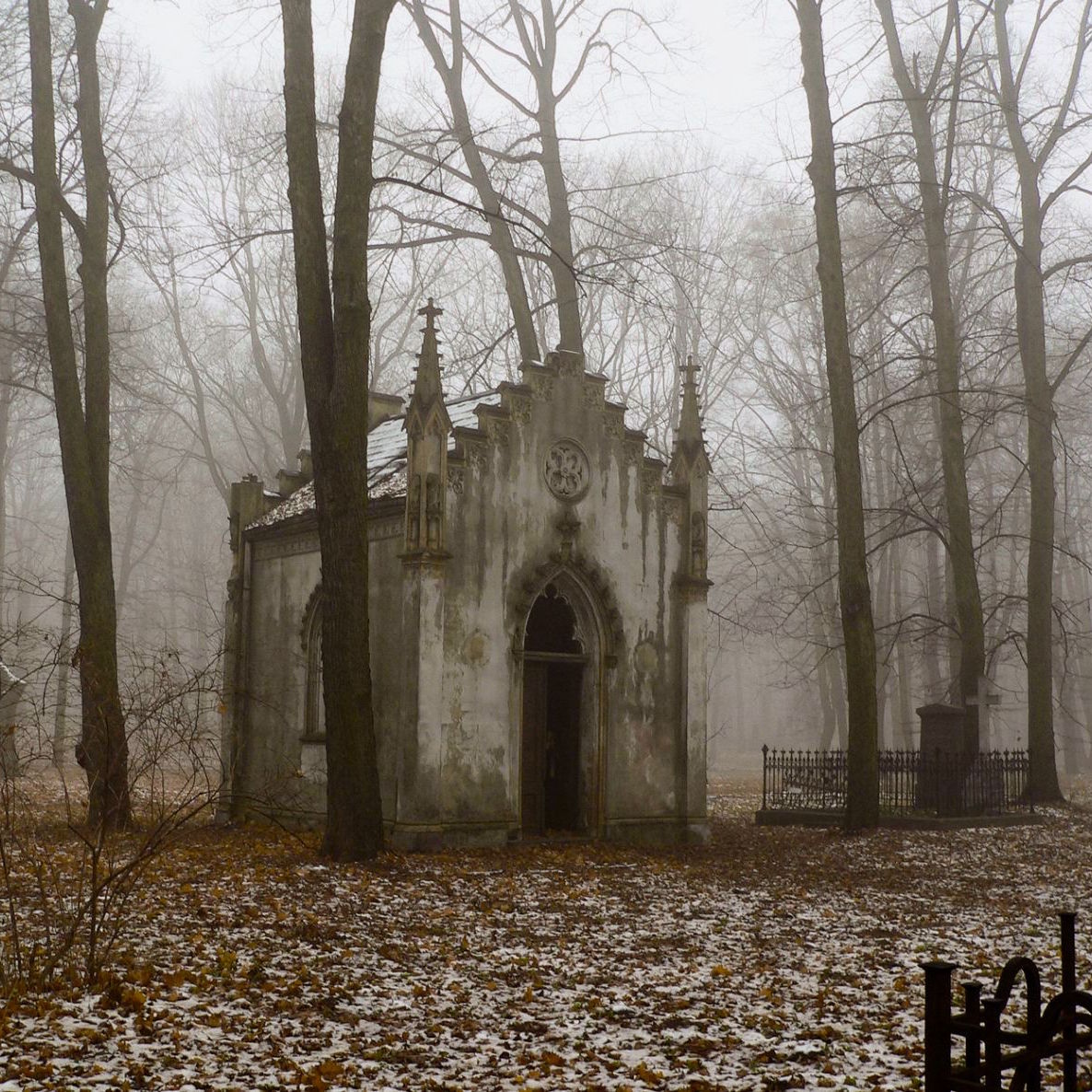 """Haunted Places In Pa Halloween: Earth Pics On Twitter: """"Abandoned Mausoleum In A Foggy"""