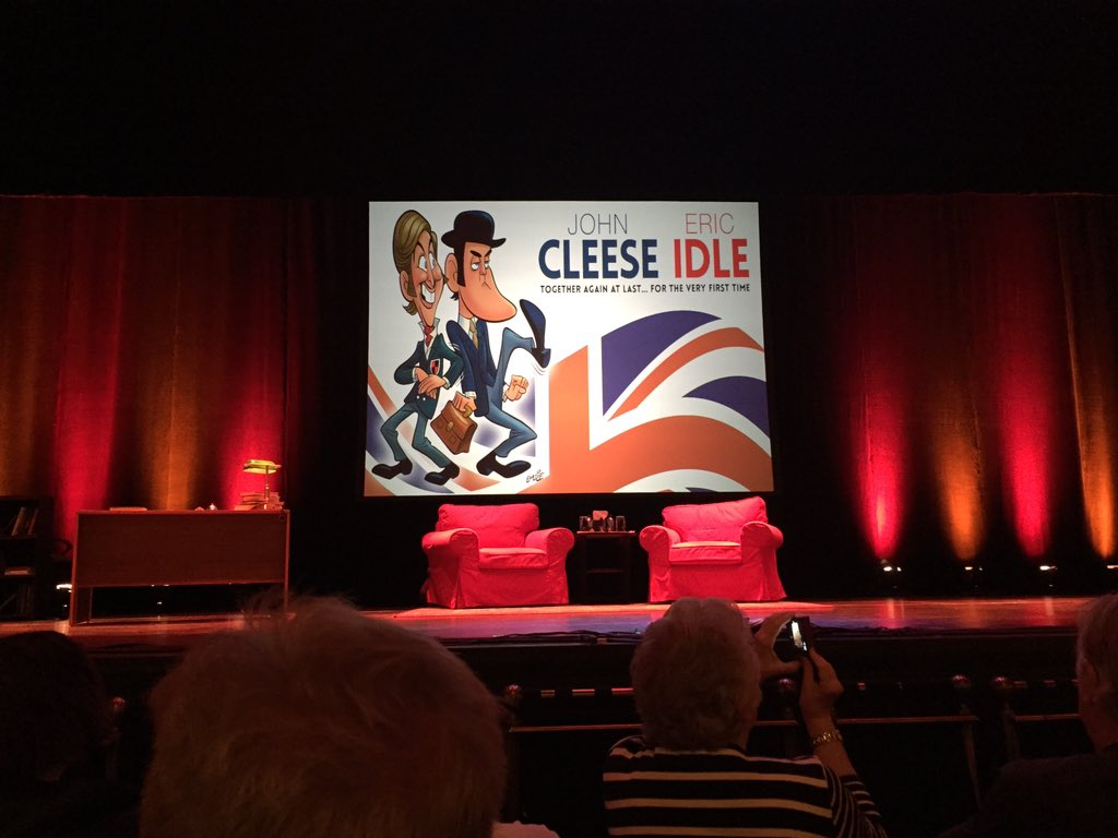 Thank you to @JohnCleese & @EricIdle for an amazing (last) show! Haven't laughed that much in a long time! https://t.co/e8Z6AGlPOA