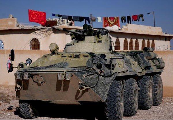 مدرعات BTR-82A الروسيه ودورها في الحرب الاهليه السوريه  CSrffniWIAAAJsP