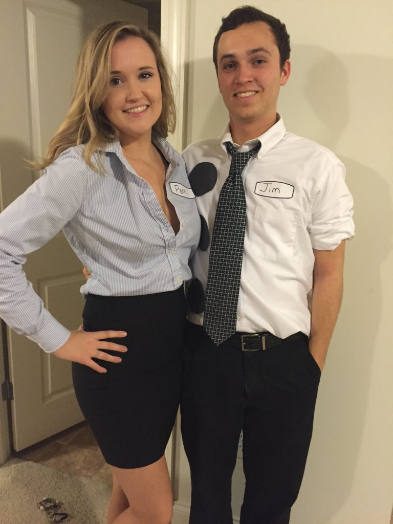 "jameson eberline on twitter: ""jim and pam for halloween"