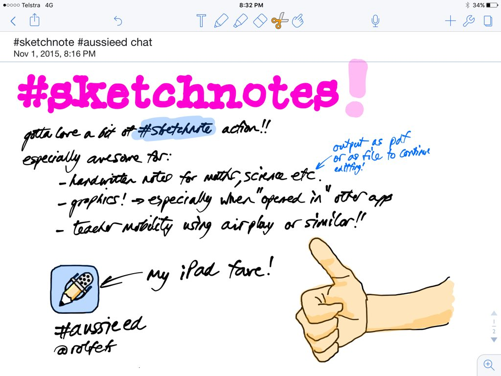 Hey folks, Rolfonzo here! I love a bit of Sketchnote action for notes and graphics! #aussieED #sketchnote https://t.co/qi7IYgil9G
