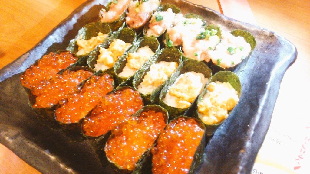 お寿司食べ放題なう♪ https://t.co/zMjofZ19hC