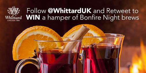 Follow @WhittardUK and RT to #win some of our favourite bonfire brews! Ends 3/11/15 12pm: https://t.co/YINsSEHDvP https://t.co/IHCj1Y6n1G