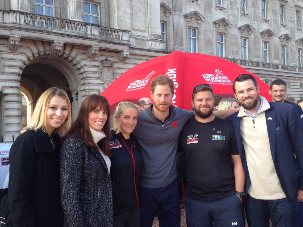 Our thx to Prince Harry for his support of injured veterans on both sides of Atlantic. #WalkOfBritain #Give2Veterans https://t.co/Qv114EUKKI