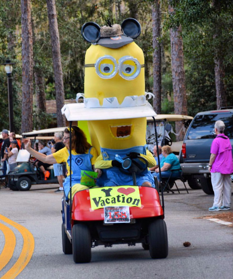 jeff lange on twitter video disneys fort wilderness halloween golf cart parade w millenium falcon monorail httpstco9kzrzqzg0e