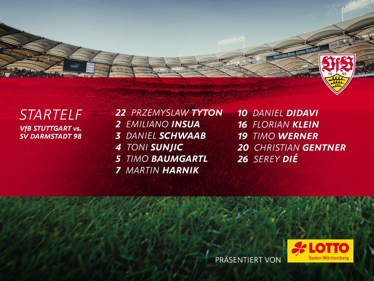 Comeback von Christian #Gentner und #SereyDié. Unsere Startelf! #VfBD98<br>http://pic.twitter.com/Mk4qlWAr0n