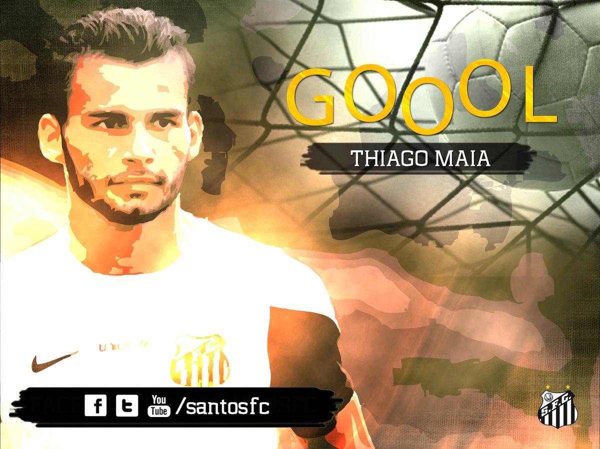 1T/27min.: Zeca cruza pra Thiago Maia que estufa a rede de primeira, 1 a 0! #Brasileirão #SANxPAL