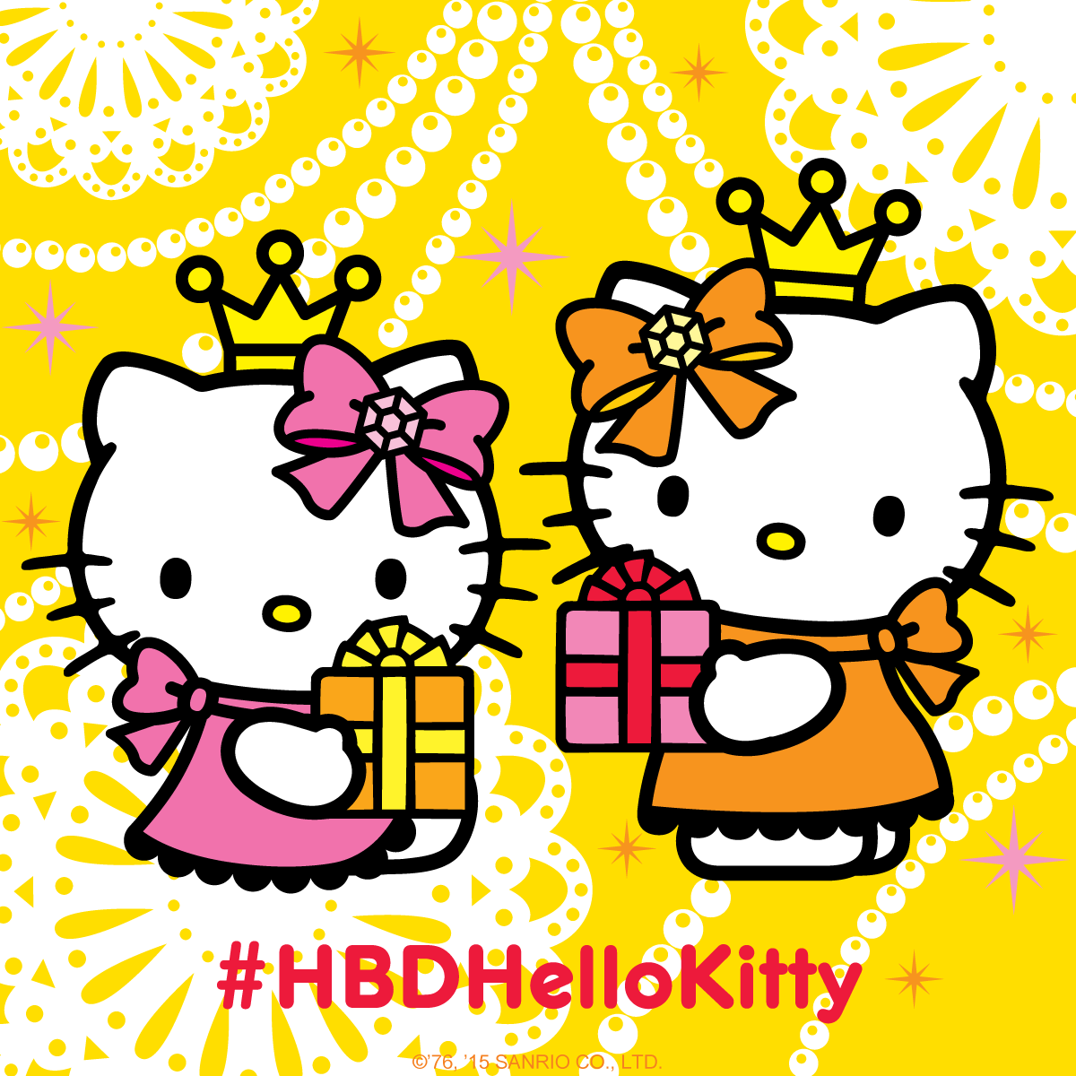 Sanrio On Twitter Send Birthday Wishes To Hellokitty And Her Twin
