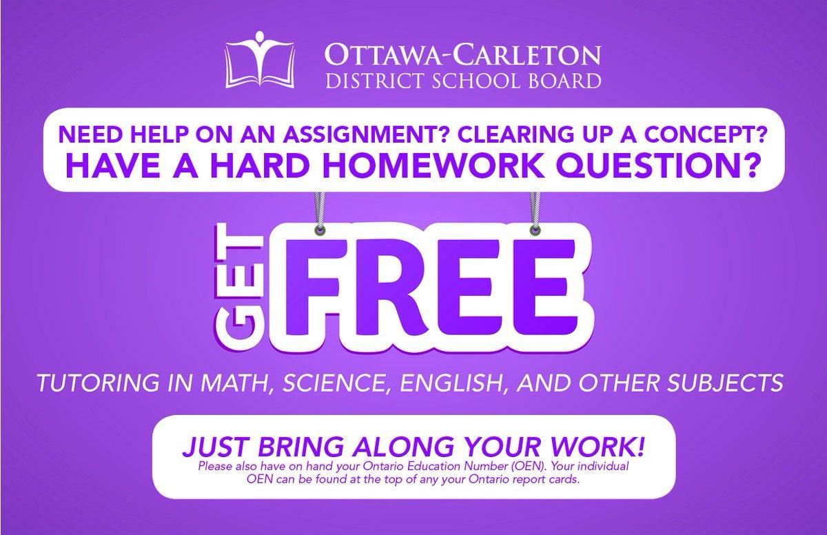 ocdsb homework help