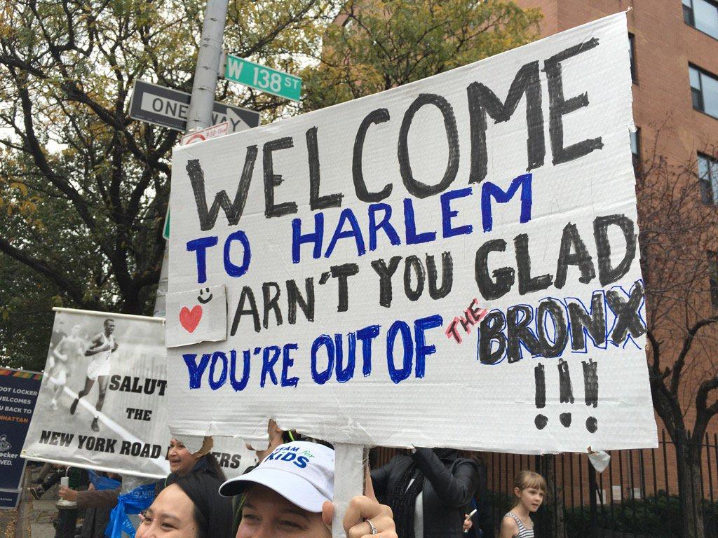 #nycmarathon signage @ 138 street in Harlem #nyc https://t.co/1EJhdkpatB