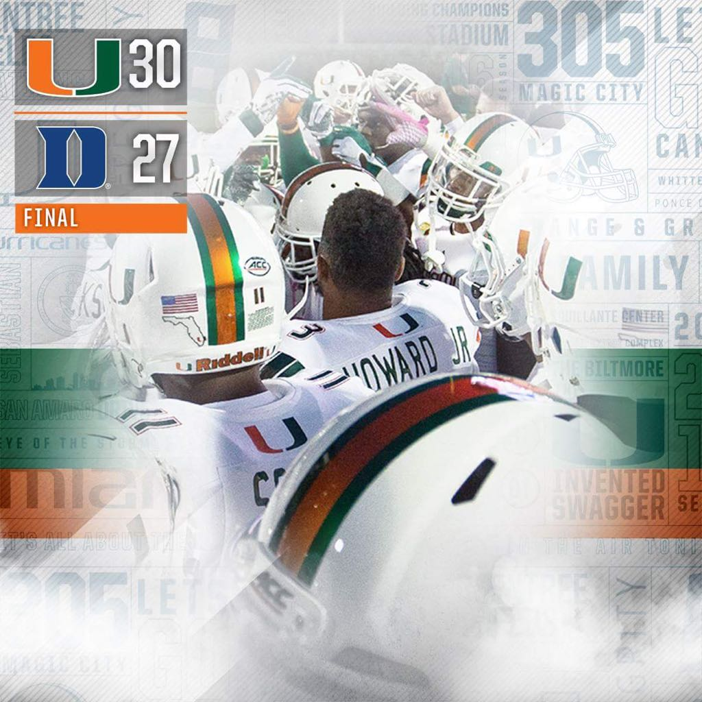 This is bottom line! Nothing else matters...Canes focus is #BeatVirginia #thatsall #whattimeisthegame pic.twitter.com/vo4tEaIBWw
