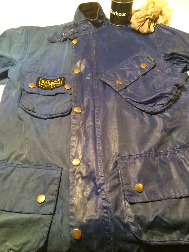 Wax International Blue On Cleaning Before Jacket Barbour Twitter qrUFpwCxq