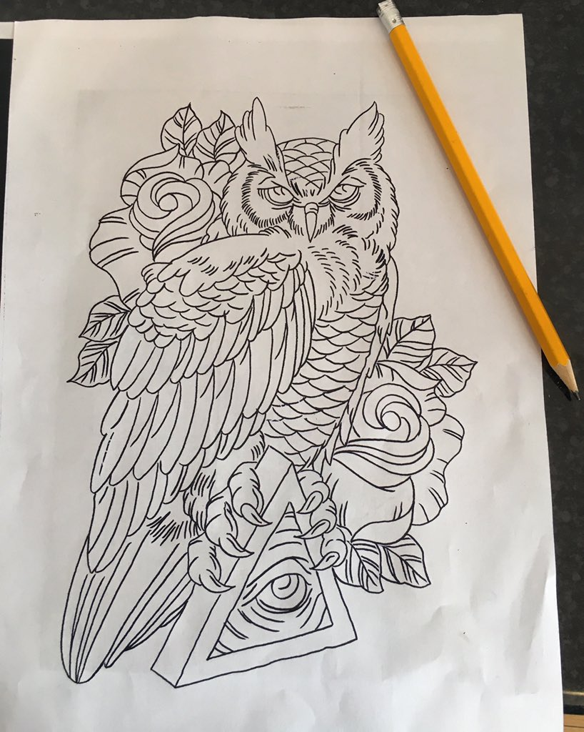 illuminati owl drawing - photo #8