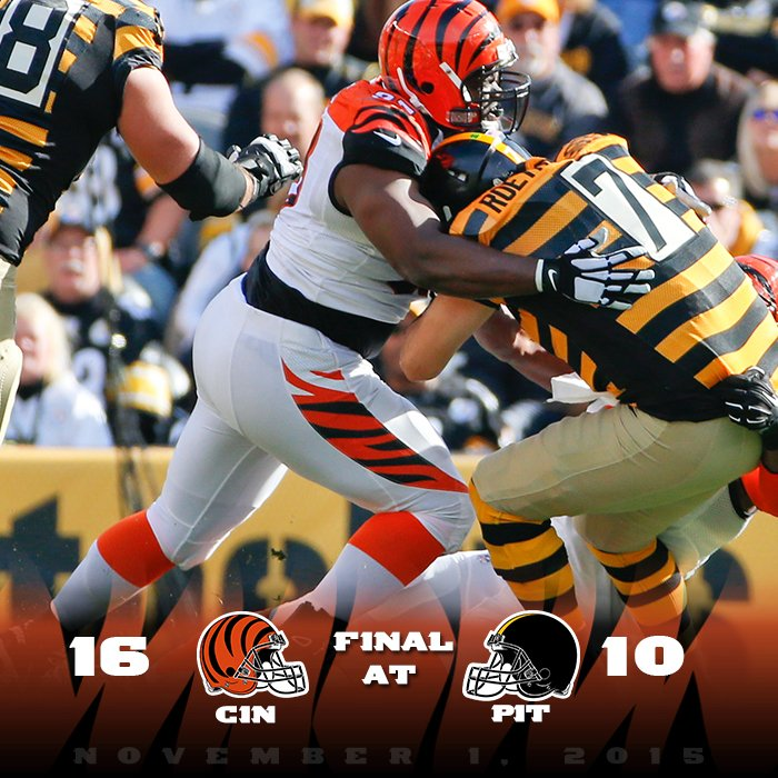 FINAL SCORE #CINvsPIT #LetsRoar https://t.co/53dKS9SQtS