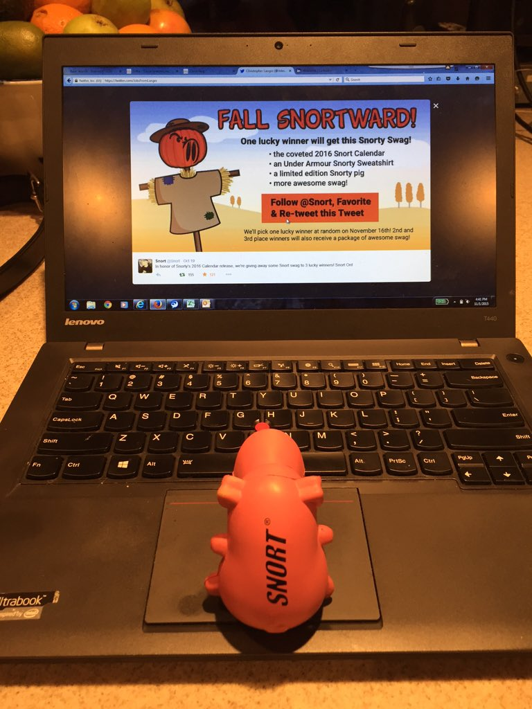 Don't forget your chance to win Snorty Swag! Follow @Snort, Favorite and ReTweet our Fall Snortward Tweet! https://t.co/j6YEXFEplL